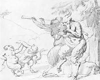 The family of satyrs, c.1820, kiprensky