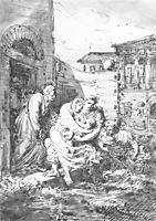 Flood in St. Petersburg, 1824, kiprensky