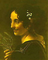 A gypsy with a branch of myrtle, 1819, kiprensky