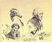 A large griffonnage, 1814, kiprensky