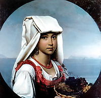 Neapolitan girl with the fruits , 1831, kiprensky