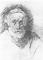 The old man-s head, 1807, kiprensky