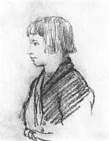 Peasant boy Petrushka-melancholic, 1814, kiprensky
