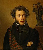 Portrait of Alexander Pushkin , 1827, kiprensky
