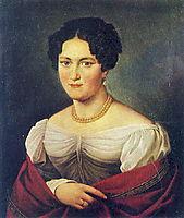 Portrait of an unknown woman , 1820, kiprensky