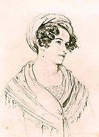 Portrait of an unknown woman in a turban, 1824, kiprensky