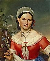 Portrait of Ekaterina Aleksandrovna Telesheva, 1828, kiprensky