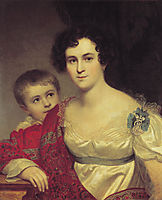 Portrait of A. I. Molchanova with Daughter, 1814, kiprensky