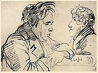 Portrait of Ivan Krylov and an unknown woman , kiprensky