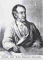 Portrait of Johann Wolfgang von Goethe, kiprensky