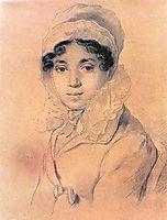 Portrait of M. A. Kikina, 1816, kiprensky