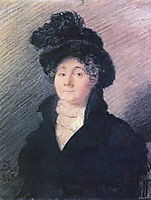 Portrait of Mrs. Vallo, 1813, kiprensky