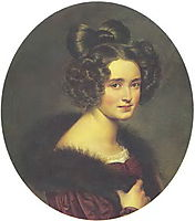 Portrait of Olimpiada Aleksandrovna Ryumina, 1826, kiprensky