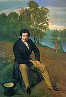 Portrait of Portrait of K. I. Albrekht, 1827, kiprensky