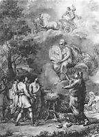 Pupils, bringing thank to Stroganov, on the occasion of New Year, 1804, kiprensky