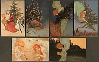 Christmas pictures signed with Paris, kirchner