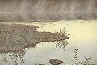 Blege Taager Vandret Over Vandet, 1900, kittelsen