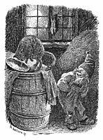 Brownie Mocks at the Cat, 1892, kittelsen