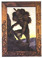 Det Doeende Bergtrollet, 1892, kittelsen