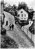 Gate I Krageroe, kittelsen