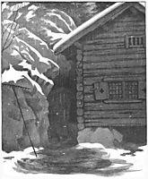 Hun Soper Hver Krok, 1900, kittelsen
