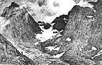 In the Raftsund mountains, 1891, kittelsen