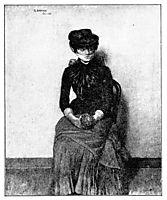 In the waiting room study - I venteverelset, 1883, kittelsen