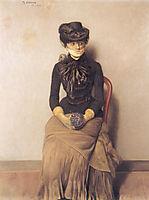 In the waiting room - I venteverelset, 1883, kittelsen