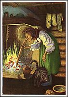 Kjerringa ved peisen, kittelsen