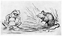 Krigen Mellom Froskene Og Musene 02, 1885, kittelsen