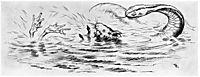Krigen Mellom Froskene Og Musene 05, 1885, kittelsen