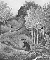 Mor Der Kommer En Kjerring, 1900, kittelsen