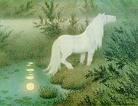 Noekken Som Hvit Hest, kittelsen