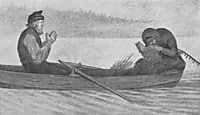 Over Sjoe Og Elv, 1900, kittelsen