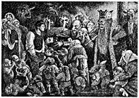Peer Gynt In the Hall of the Mountain King, 1890, kittelsen