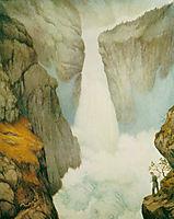 Sam Eyde Foran Svelgfoss, 1908, kittelsen