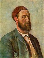 Selvportrett, 1891, kittelsen
