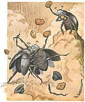 Slagsmaal Mellem To Skarnbasser, 1894, kittelsen