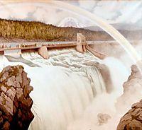 Svelgfoss Norsk Hydro, 1908, kittelsen