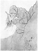 Trollkjerringen I Bergskorten, kittelsen