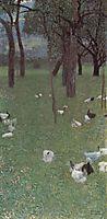 After the Rain (Garden with Chickens in St. Agatha), 1899, klimt