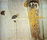 The Beethoven Frieze: The Longing for Happiness. Left wall, 1902, klimt