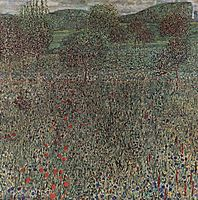 Blooming field, 1909, klimt