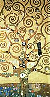 Cartoon for the frieze of the Villa Stoclet in Brussels: central part of the tree of life, 1905-1909, klimt