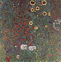 Country Garden with Sunflowers, 1906, klimt