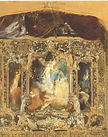Design for a theater curtain, klimt