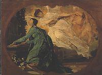 Female organ player, klimt