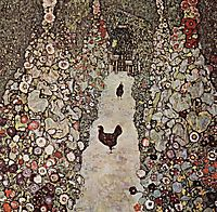 Garden with Roosters, 1917, klimt