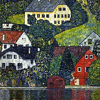 Houses at Unterach on the Attersee, c.1916, klimt