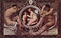 Idylle (Idylls), 1884, klimt